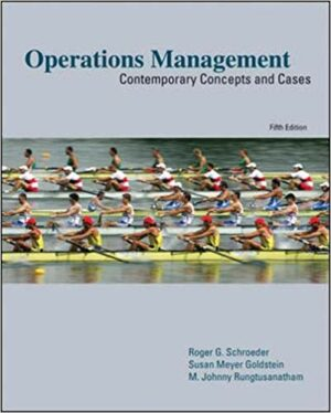 Test Bank for Operations Management: Contemporary Concepts and Cases